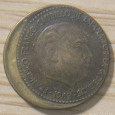 Monedas con errores: 1 PESETA 1963, ERROR DE ACUÑACIÓN. Lote 148803132