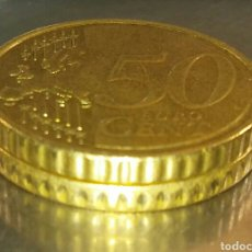 Monedas con errores: MONEDA 50 CÉNTIMOS ERROR CANTO. Lote 151713722