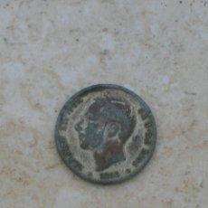 Monedas con errores: MONEDA DE ALFONSO XII. 1 PESETAS.AÑO 1883.FALSA DE ÉPOCA.FABRICADA EN PLOMO.. Lote 153126598