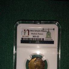 Monedas con errores: ERROR , 1 PESETA ,ESTADO ESPAÑOL,1953/ 19-64 MUY DESPLAZADA . Lote 154838002