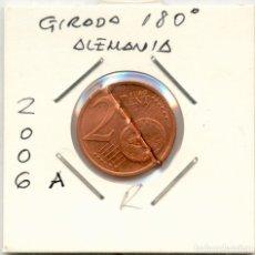 Monedas con errores: * ERROR RARISIMO * MONEDA 2 CENT ALAMANIA 2006 A. GIRADA 180º Y DESMONETIZADA. Lote 156595509