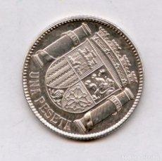 Monedas con errores: * ERROR * EXQUISITA MONEDA DE 1 P DE PLATA DE LA REPUBLICA ESPAÑOLA CON EL REVERSO GIRADO. Lote 157343314