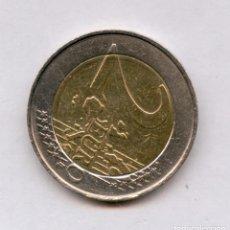 Monedas con errores: * ERROR ESPECTACULAR * 2 EURO BELGICA AÑO 2000 REVERSO GIRADO 135º. Lote 157889401