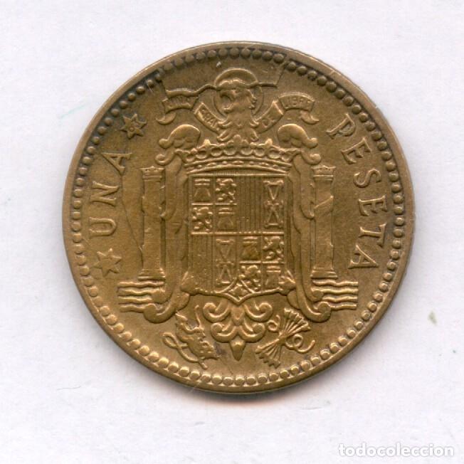 Monedas con errores: * ERROR MUY ESCASO * 1 PTA 1963-63 CUÑO PREDESCANTILLADO Y CUÑO PARTIDO - Foto 2 - 158383125