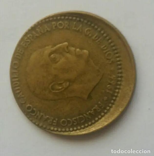 ERROR DESPLAZADA PESETA 1966/67 (Numismática - España Modernas y Contemporáneas - Variedades y Errores)