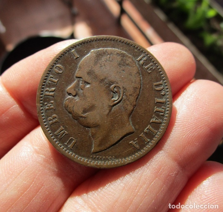 ITALIA . 10 CENTESIMI MUY ANTIGUOS . AÑO 1894 (Numismática - España Modernas y Contemporáneas - Variedades y Errores)