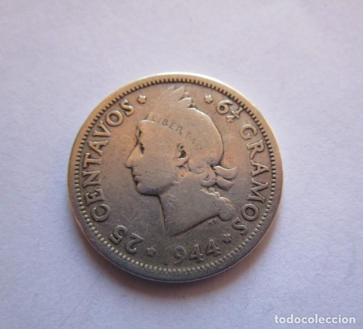 REPUBLICA DOMINICANA . 25 CENTAVOS DE PLATA ANTIGUOS (Numismática - España Modernas y Contemporáneas - Variedades y Errores)