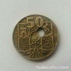 Monedas con errores: ERROR TALADRO GRAN DESCENTRADO 1949 ESTRELLA 51. Lote 160774134