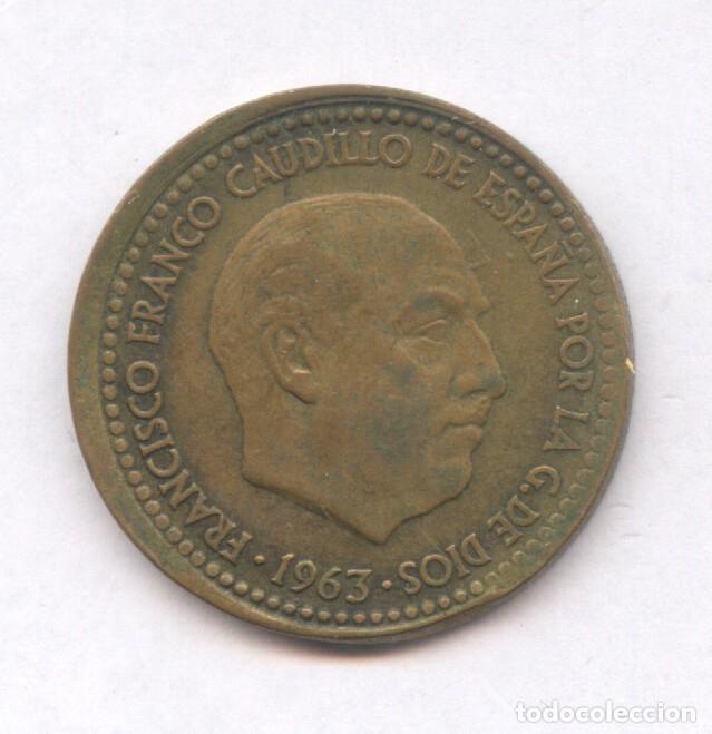 * ERROR * 1 PESETA 1963*66 DESPLAZADA (Numismática - España Modernas y Contemporáneas - Variedades y Errores)