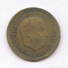 Monedas con errores: * ERROR * 1 PESETA 1963*66 DESPLAZADA. Lote 161250285