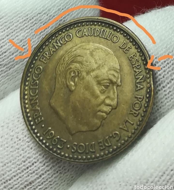 1 PESETA 1963 ERROR (Numismática - España Modernas y Contemporáneas - Variedades y Errores)