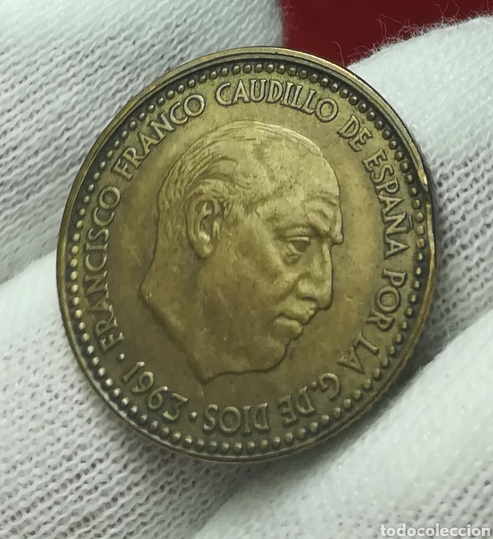 Monedas con errores: 1 peseta 1963 error - Foto 2 - 161329248