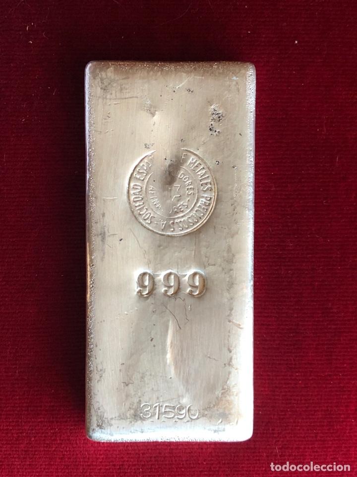 LINGOTE DE 1 KILO DE PLATA PURA CON CONTRASTE (Numismática - España Modernas y Contemporáneas - Variedades y Errores)
