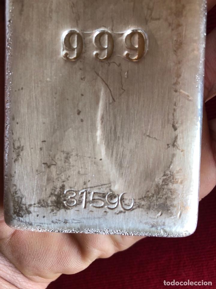 Monedas con errores: LINGOTE DE 1 KILO DE PLATA PURA CON CONTRASTE - Foto 4 - 163430956