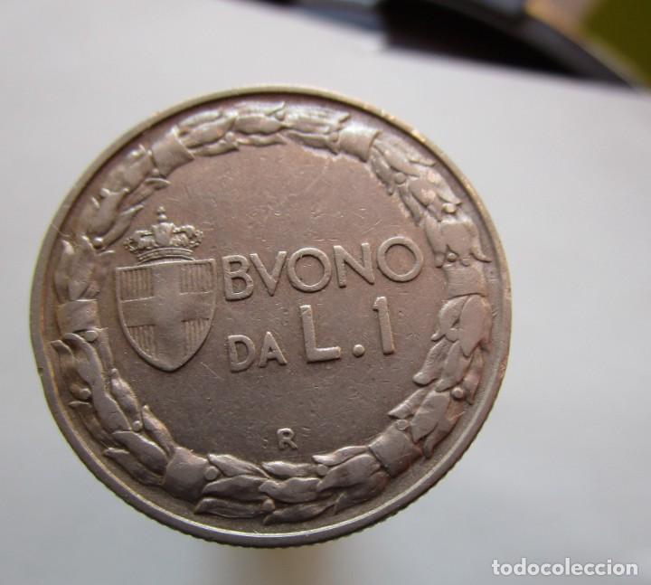 ITALIA . UNA LIRA ANTIGUA. DE 1923 SIN CIRCULAR (Numismática - España Modernas y Contemporáneas - Variedades y Errores)