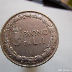 Coins with Errors - ITALIA . UNA LIRA ANTIGUA. DE 1923 SIN CIRCULAR - 164668710