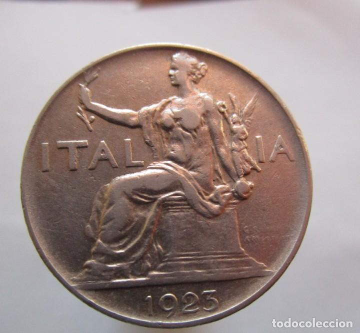 Monedas con errores: ITALIA . UNA LIRA ANTIGUA. DE 1923 SIN CIRCULAR - Foto 2 - 164668710