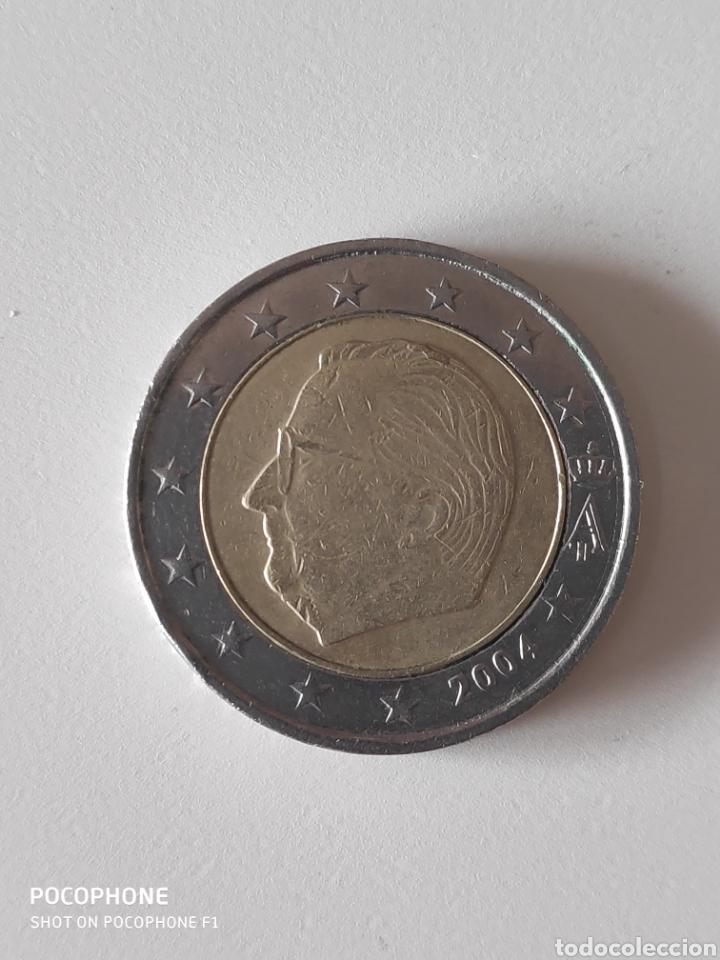MONEDA 2 EUROS ERROR EMPASTE DE METAL (Numismática - España Modernas y Contemporáneas - Variedades y Errores)