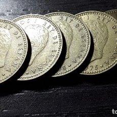 Monedas con errores: JUAN CARLOS I 1 PESETA 1975 *78 VARIANTE PUNTO EN Ñ CHILENA 5 MONEDAS CIRCULADAS. Lote 164748846