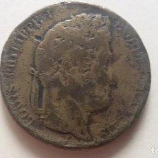 Monedas con errores: MONEDA DE 5 FRANCOS DE LOUIS FELIPE DE 1846 FALSA DE EPOCA. Lote 166045058