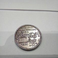 Monedas con errores: MONEDA PROMOCIONAL COCA COLA LIGHT. Lote 168279025