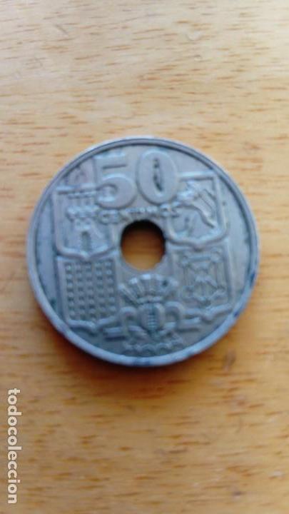 50 CÉNTIMOS 1949 FLECHAS INVERTIDAS (Numismática - España Modernas y Contemporáneas - Variedades y Errores)