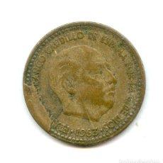 Monedas con errores: * ERROR * 1 PTA 1963 CUÑO DESCANTILLADO. Lote 169919400