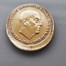 Monedas con errores: ERROR ACUÑACION MONEDA 1 PESETA FRANCO MUY DESPLAZADA 1966 *67 S/C. Lote 170157006