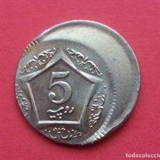 Monedas con errores: ## ERROR - PRECIOSA ACUÑACIÓN DESPLAZADA - 5 RUPIAS 2004 PAKISTAN ##. Lote 172405973