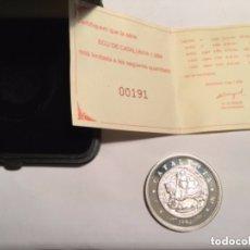 Monedas con errores: SANT JORDI - 5 ECU CATALUNYA 1994 -PLATA 925- 4 CM.- TIRADA 10.000. Lote 177478453