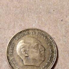 Monedas con errores: ERROR PESETA FRANCO 1963 AÑO Y LETRA F POCO MARCADOS. Lote 178575501