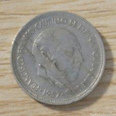 Monedas con errores: ERROR ACUÑACIÓN 5 PESETAS 1957. Lote 181452341