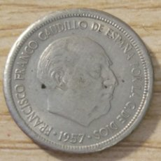 Monedas con errores: ERROR ACUÑACIÓN 5 PESETAS 1957. Lote 181453315