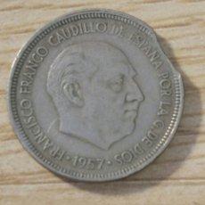 Monedas con errores: ERROR ACUÑACIÓN 5 PESETAS 1957. Lote 181453592