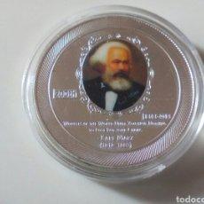 Monedas con errores: MONEDA DE PLATA CARLOS MARX. Lote 182037265
