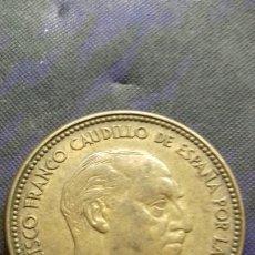 Monedas con errores: MONEDA DE 2,5 PESETAS UNA 1953*19*56. MARCACIÓN INCUSA HILOS DE METAL. Lote 182785183