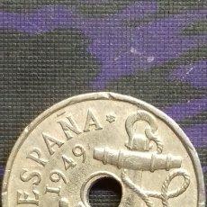 Monedas con errores: 50 CENTIMOS DE 1949 * 52 EBC- AGUJERO - EXCESO DE METAL - 2 PEQUEÑAS ROTURAS DE COSPEL.... Lote 183251775