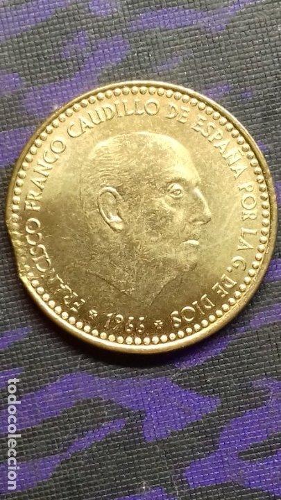 Monedas con errores: ESTADO ESPAÑOL 1 PESETA 1966 *19*72 SIN CIRCULAR DE CARTUCHO *ERROR* FIN DE RIEL - Foto 7 - 183290593