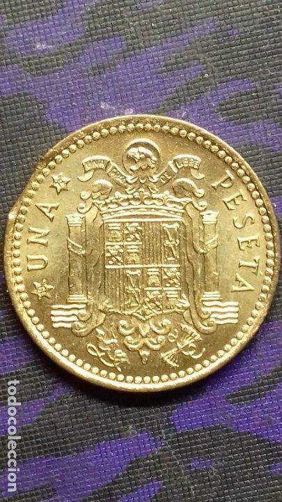 Monedas con errores: ESTADO ESPAÑOL 1 PESETA 1966 *19*72 SIN CIRCULAR DE CARTUCHO *ERROR* FIN DE RIEL - Foto 4 - 183290593