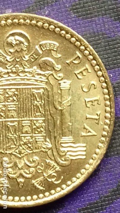 Monedas con errores: ESTADO ESPAÑOL 1 PESETA 1966 *19*72 SIN CIRCULAR DE CARTUCHO *ERROR* FIN DE RIEL - Foto 5 - 183290593