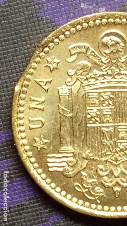 Monedas con errores: ESTADO ESPAÑOL 1 PESETA 1966 *19*72 SIN CIRCULAR DE CARTUCHO *ERROR* FIN DE RIEL - Foto 6 - 183290593