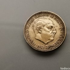 Monedas con errores: MONEDA 2,5 PESETAS 1953 *56 EBC EXCESO DE METAL. Lote 183346325