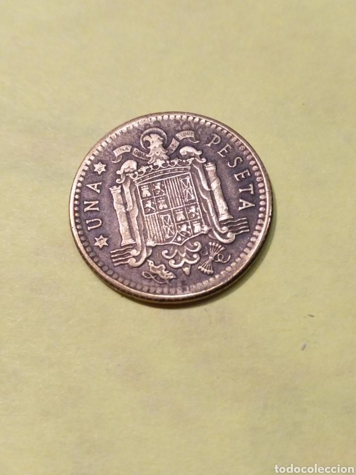 Monedas con errores: REPINTE Y desplazamiento . Una peseta 1963. EBC - Foto 3 - 186221836
