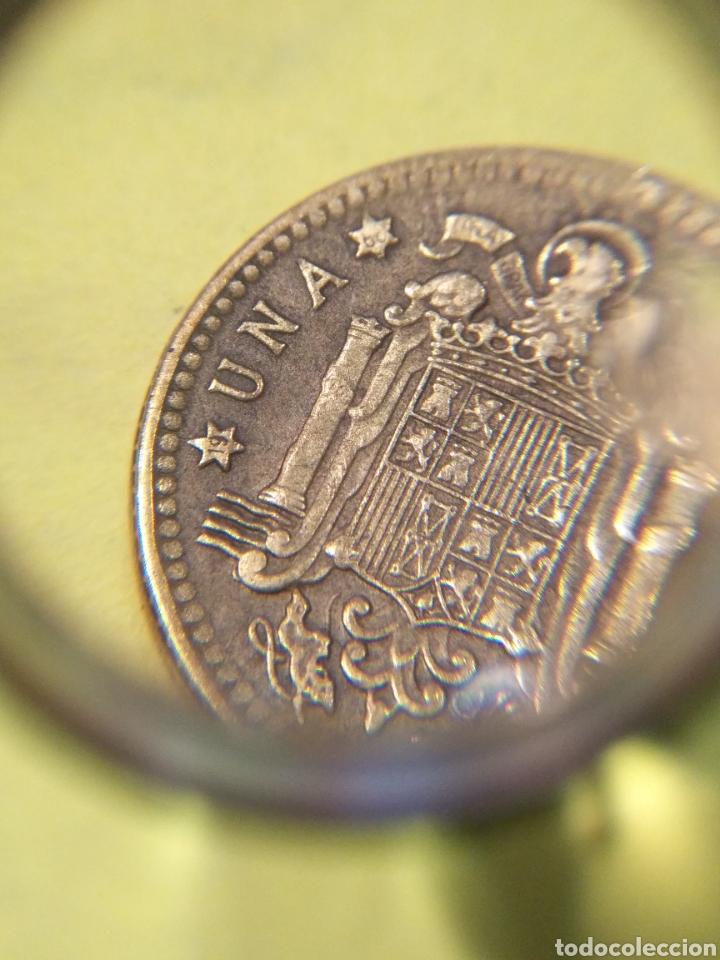 Monedas con errores: REPINTE Y desplazamiento . Una peseta 1963. EBC - Foto 5 - 186221836