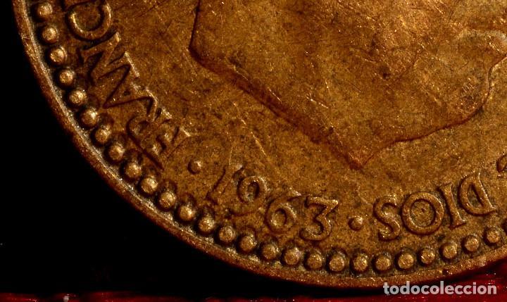 Monedas con errores: PESETA 1963*65: GRANDES REPINTES EN ANVERSO Y REVERSO (REF. 692) - Foto 6 - 186260093