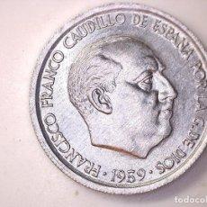 Monedas con errores: ESTADO ESPAÑOL. 10 CÉNTIMOS. 1959. MADRID. REVERSO GIRADO 170º CASI 180º. + EXCESO DE METAL 0,76G. S. Lote 189578005