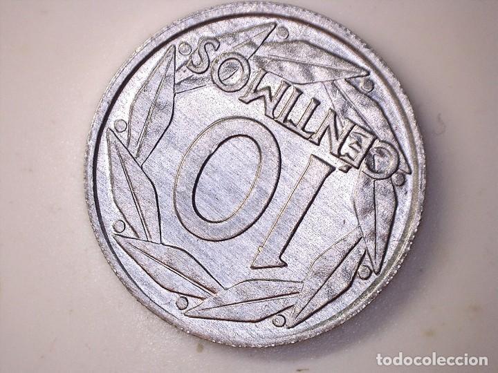 Monedas con errores: ESTADO ESPAÑOL. 10 céntimos. 1959. Madrid. Reverso girado 170º casi 180º. + Exceso de metal 0,76g. S - Foto 2 - 189578005