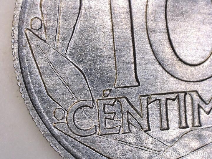 Monedas con errores: ESTADO ESPAÑOL. 10 céntimos. 1959. Madrid. Reverso girado 170º casi 180º. + Exceso de metal 0,76g. S - Foto 4 - 189578005