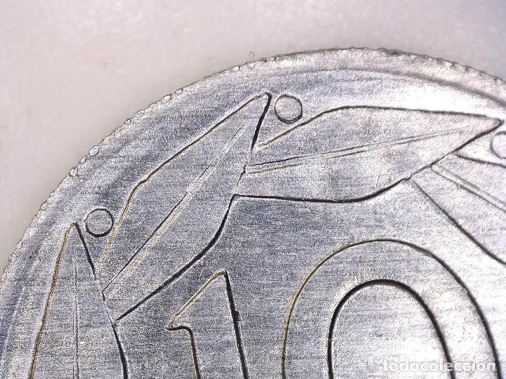 Monedas con errores: ESTADO ESPAÑOL. 10 céntimos. 1959. Madrid. Reverso girado 170º casi 180º. + Exceso de metal 0,76g. S - Foto 5 - 189578005