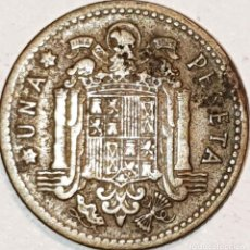 Monedas con errores: MONEDA ESTADO ESPAÑOL 1 PESETA 1947 ESTRELLA 56 ERROR. Lote 191127355